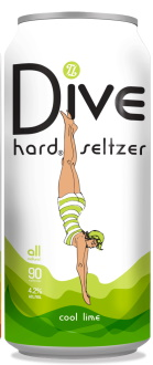Topsy Turvy Cool Lime Dive Hard Seltzer