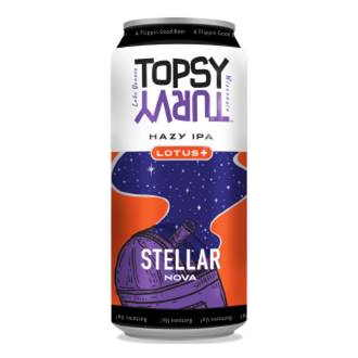 Stellar Nova Lotus Hazy IPA craft beer from Topsy Turvy Brewery, Lake Geneva, Wisconsin